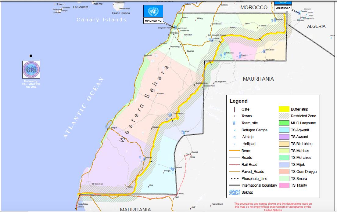 Mapas Centro de Estudos do Sahara Occidental da USC USC